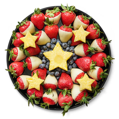 Red, White & Blueberry Platter