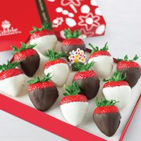 White and Semisweet Chocolate Dipped Strawberries Box
