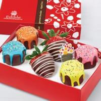 Pineapple Drip Cakes box w/swizzle berries
