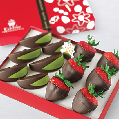 Edible Arrangements Fruit Baskets Chocolate Dipped Apples And Strawberries Box