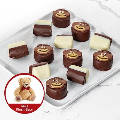Sweet Safari Box with Plush Bear
