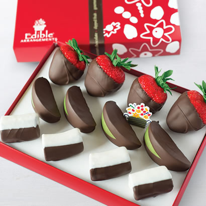 Chocolate Dipped Strawberries, Apples, & Bananas Bundle