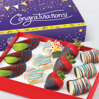 Congratulations Patriotic Swizzle(R) Mixed Fruit Box