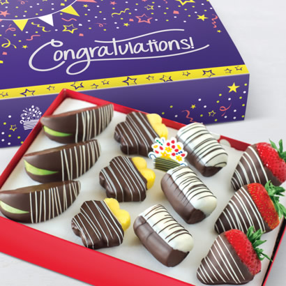 Congratulations Swizzle® Mixed Dipped Fruit™ Box