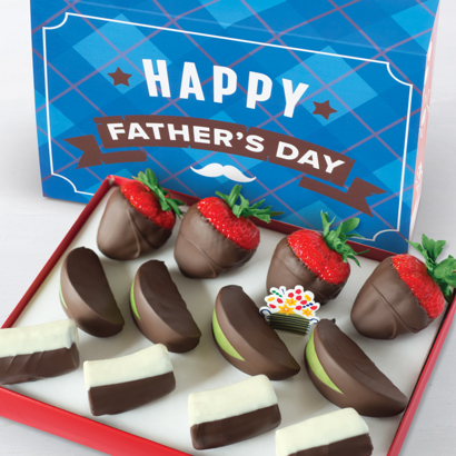 fathers Day Dipped Strawberries, Apples & bananas