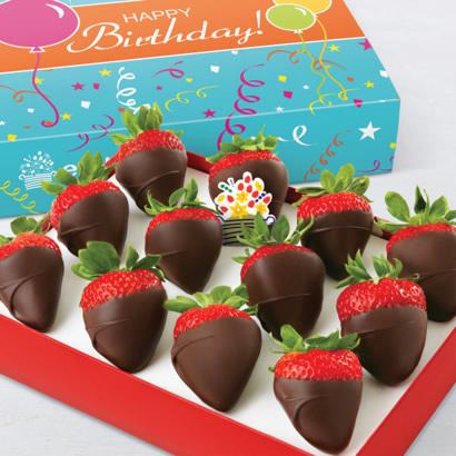 Happy Birthday Chocolate Dipped Strawberries Box