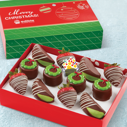 Wreath Pineapple Cakes, Swizzle Berries, & Swizzle Apples Box AND Merry Christmas Box sleeve
