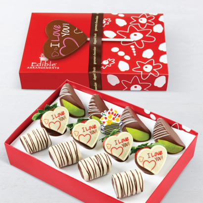 Love is Sweet Dipped Fruit Trio (12ct) & love pop