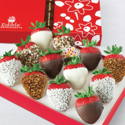 Edible Arrangements Fruit Baskets Chocolate Dipped Strawberries With Mixed Toppings Box