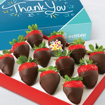 Thank You Chocolate Dipped Strawberries Box
