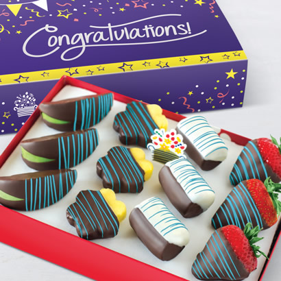 Congratulations Blue Swizzle® Mixed Fruit Box
