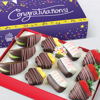 Congratulations Pink Swizzle® Mixed Fruit Box