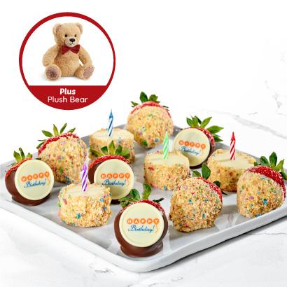 Happy Birthday Box with Plush Bear
