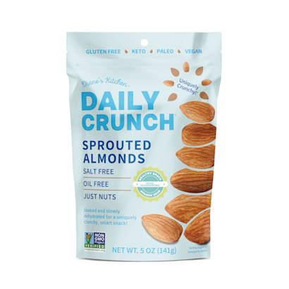 Just Sprouted Almonds  Nut Delivery  Daily Crunch Snacks