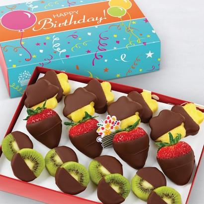 bday summer fruits dipped fruit box