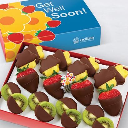 get well summer fruits dipped fruit box