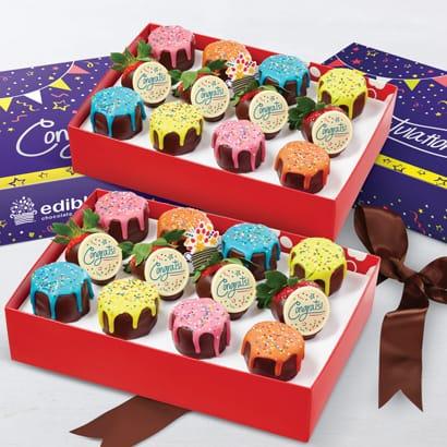 Congratulations Pineapple Drip Cakes™  & Berries