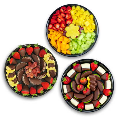 Chocolate Covered & Fresh Fruit Party Platters