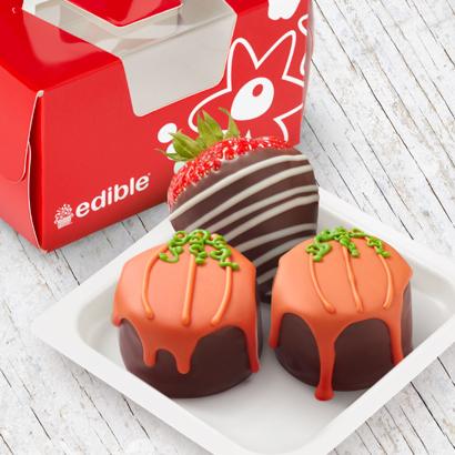 Pumpkin Drip Cakes w/ Swizzle Berries - 3pc