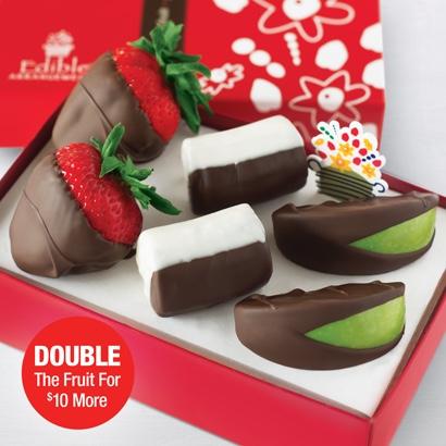 Chocolate Dipped Strawberries, Apples, & Bananas Bundle