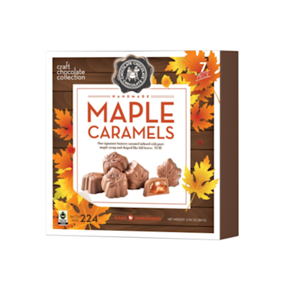 Maple Caramel Chocolate Leaves