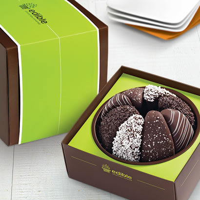Gourmet Shareable™ Caramel Apple - Black & White Gift Baskets