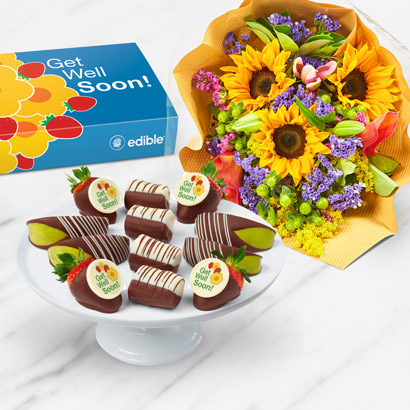 Get Well Wishes FruitFlowers