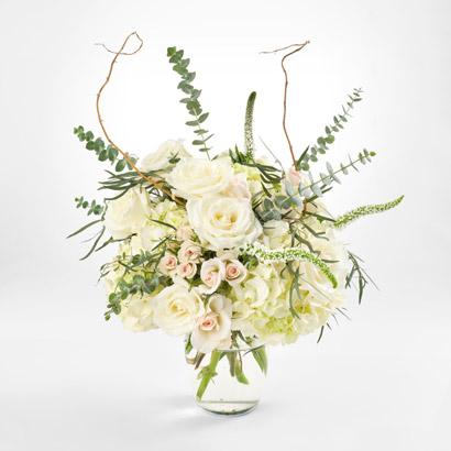 Hydrangea  White Rose Bouquet