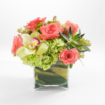 Orchid, Hydrangea & Rose Bouquet