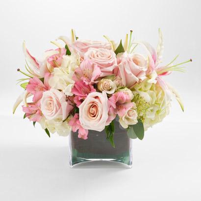 Pink Rose, Lily & Hydrangea Flower Bouquet