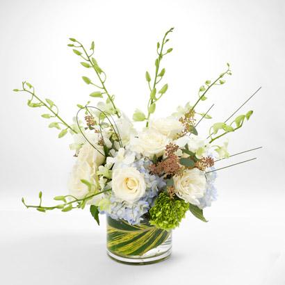 White Blue Flower Bouquet