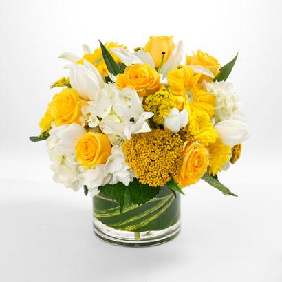 Yellow & White Flower Arrangement