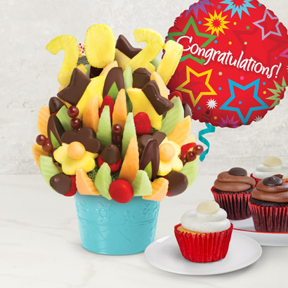 Class of 2021 Cupcakes  Dipped Fruit