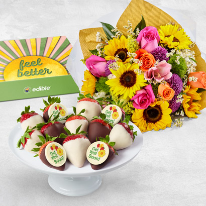Well Wishes FruitFlowers  Bouquets