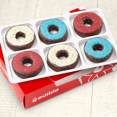 Edible Donuts Red, White & Blue