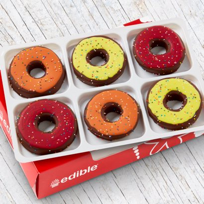 Yellow, Red and Orange Donuts