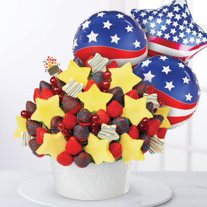 Patriotic Berry Chocolate Star Package