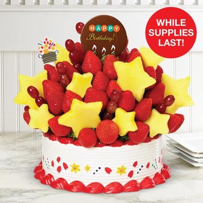 A Birthday Bouquet w/ Happy BDay Belgian Choc Pop