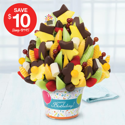 Delicious Celebration Dipped Fruit Delight - Birthday Container
