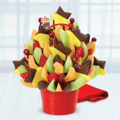Brighten Their Day Celebration Dipped Strawberries & Pineapple