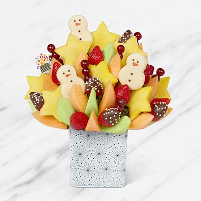 Cheerful Winter Celebration Snowman