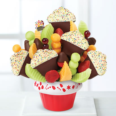 Confetti Fruit Cupcake™  Dipped Strawberries