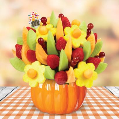 Delicious Fruit Design® in Pumpkin Container