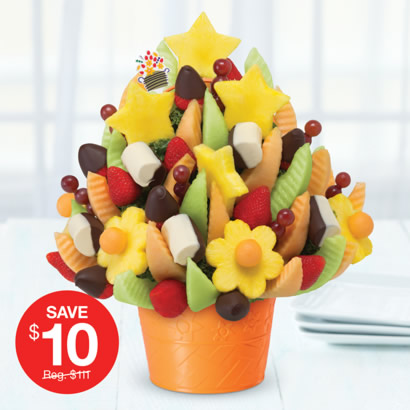 Delicious Celebration® with Dipped Strawberries & Bananas
