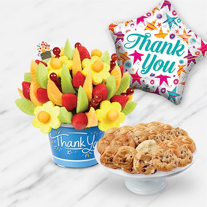 Thank You Cookies & Fruit Gift Bundle | Edible Arrangements