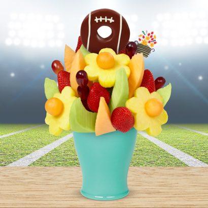 FruitFlowers® Bouquet - Football Edible® Donut