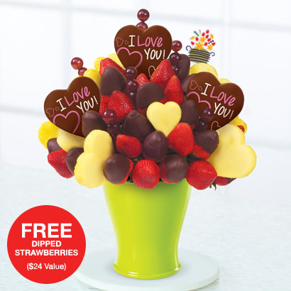 Hearts & Berries® Dipped Strawberries – with Belgian Chocolate Pops