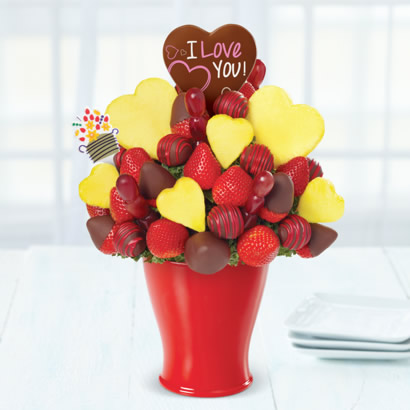 Love Bouquet Dipped Strawberries - with Belgian Chocolate Pop