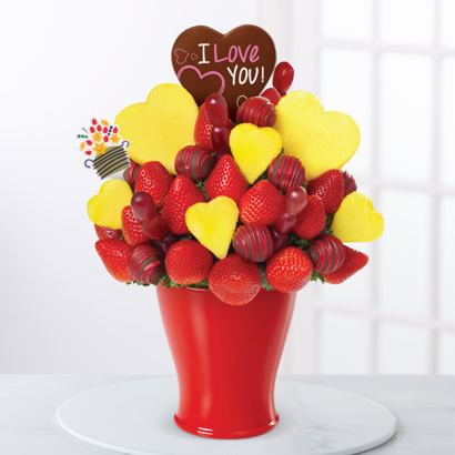 Love Bouquet - with Belgian Chocolate Pop