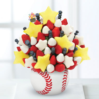 Red, White, & Blueberry Bouquet™ in Baseball Keepsake